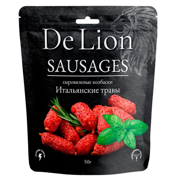 Колбаски DeLion итальянские травы 50 гр