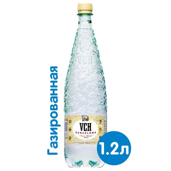 Вода VCH Barcelona 1.2 литра, газ, пэт, 6 шт. в уп.