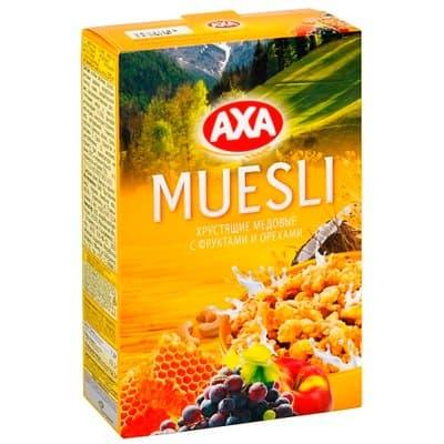 Мюсли АХА хрустящие медовые с фруктами и орехами 250г (1шт)