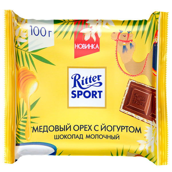 Шоколад Ritter Sport молочный медовый орех с йогуртом 100 гр
