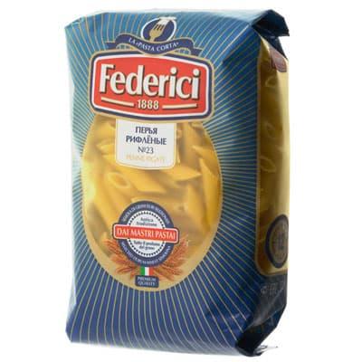Макароны Federici перья рифленые №23 500 гр фото