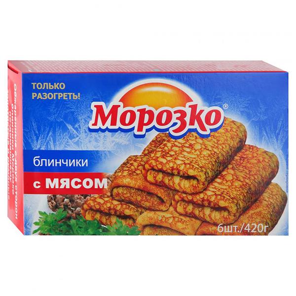 Блинчики Морозко с мясом 420 гр