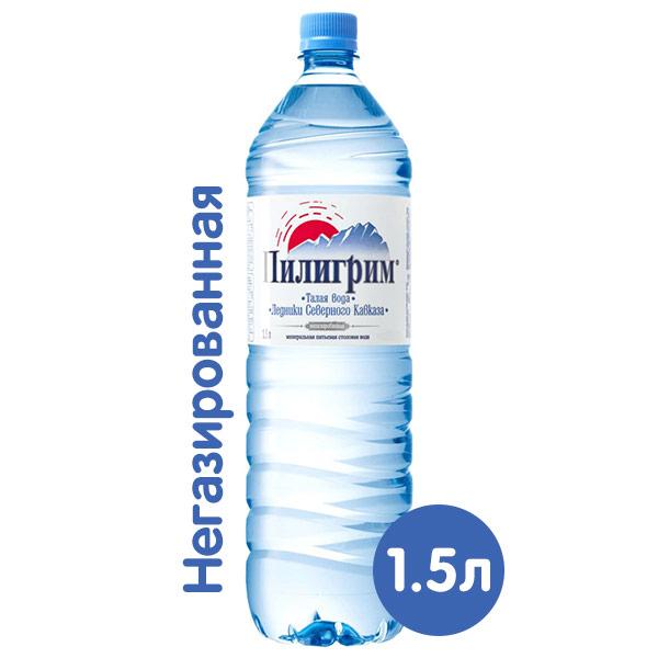 Вода Пилигрим 1.5 литра, без газа, пэт, 6 шт. в уп. фото