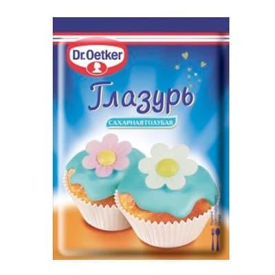 Глазурь сахарная DR.OETKER голубая 100 гр