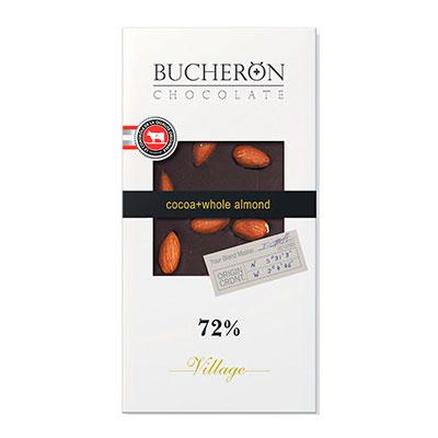 Шоколад Bucheron 72% какао миндаль 100 гр