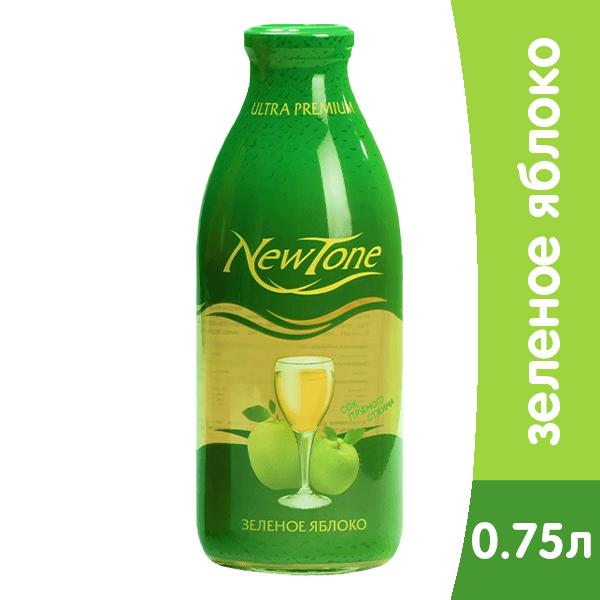 Сок New Tone / НьюТон зеленое яблоко 750мл. ст. (6шт.) фото