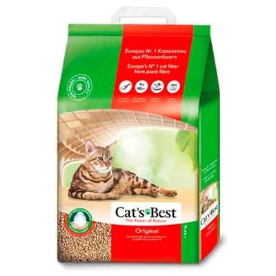 Наполнитель Cats Best Original древесный комкующийся 20л 8,6 кг фото