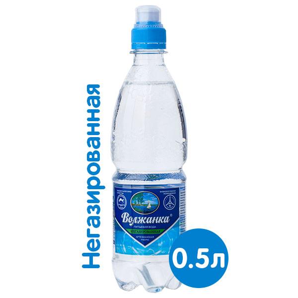 Вода Волжанка 0.5 литра, спорт, без газ, пэт, 12 шт. в уп. фото