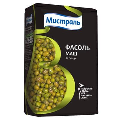 """Фасоль Маш """"Мистраль"""" 450г (2шт)"""