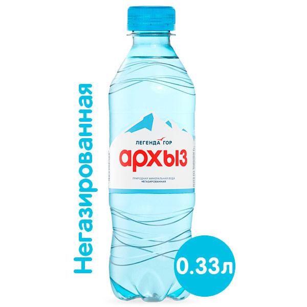 Вода Легенда гор Архыз 0.33 литра, без газ, пэт, 12 шт. в уп. фото