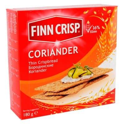 Сухарики Finn Crisp / Фин Крисп Coriander бородинские с кориандром 180гр фото