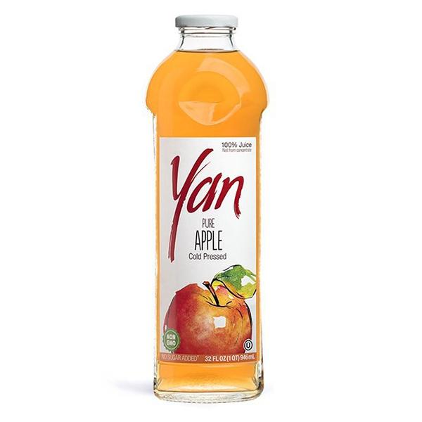 Сок YAN яблочный 0.93 литра стекло 6 шт. в уп..