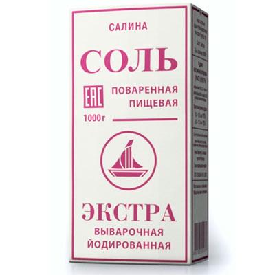 Соль Салина Экстра 1 кг фото