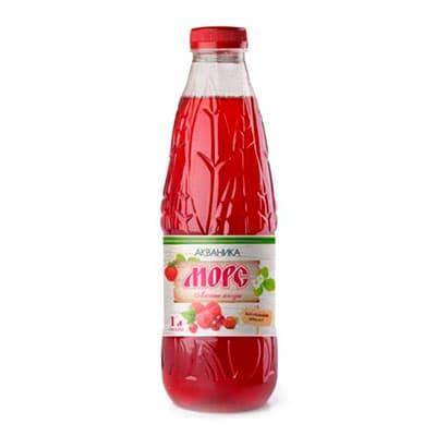 Морс Акваника лесные ягоды 1 литр, пэт, 6 шт. в уп.