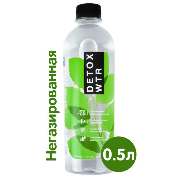 Минеральная вода Detox WTR 0.5 литра, без газа, пэт, 12 шт. в уп. фото