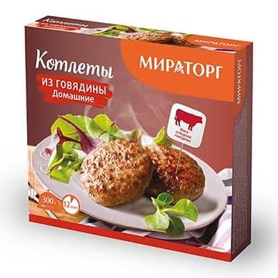 Котлеты Мираторг из говядины Домашние 300 гр
