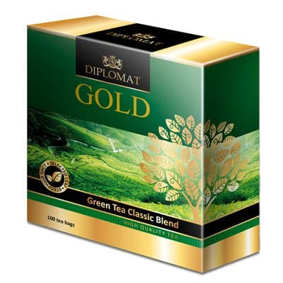 Diplomat Gold Green Tea Classic Blend 100 пак