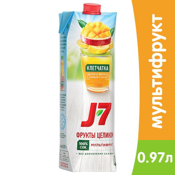 J7 / Джей Севен мультифрукт с мякотью 970 мл, 12 шт. в уп. фото
