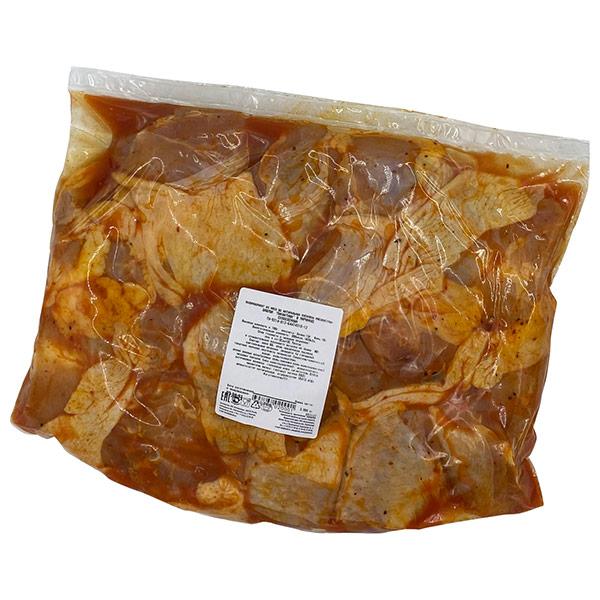 Шашлык из мяса курицы Куриный король пикантный в маринаде охлажденный 1,7-2,2 кг