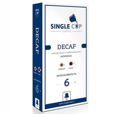 Кофе в капсулах Single Cup Coffee Decaf 10шт (1шт)