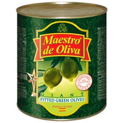 Оливки Maestro супергигантские без косточек 420гр(2)