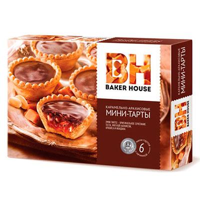 Мини тарты Baker House с карамельно арахисовой начинкой 240 гр