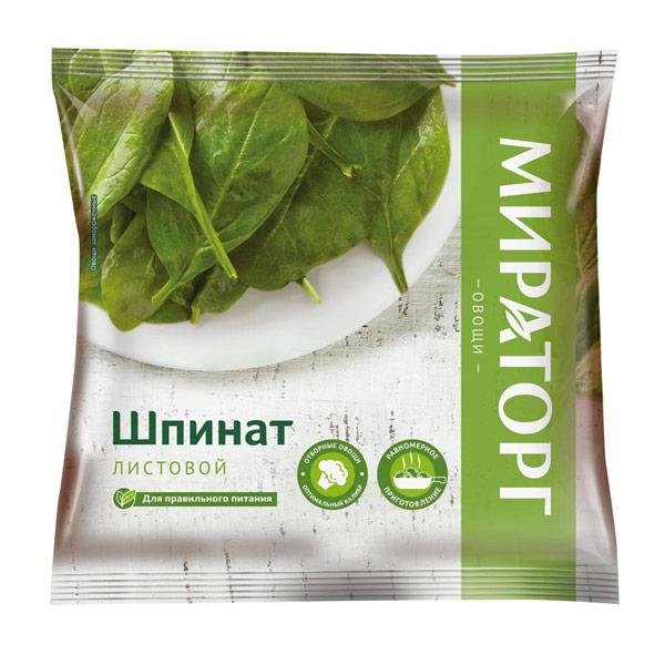 Шпинат Витамин листовой порционный 400гр фото