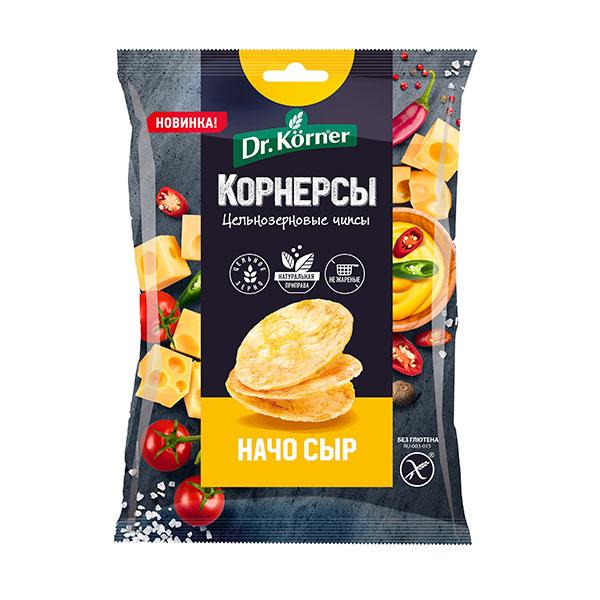 Чипсы Dr.Korner цельнозерновые кукурузно рисовые с сыром