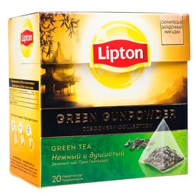 Чай Lipton / Липтон Green Gunpowder 20 пир фото