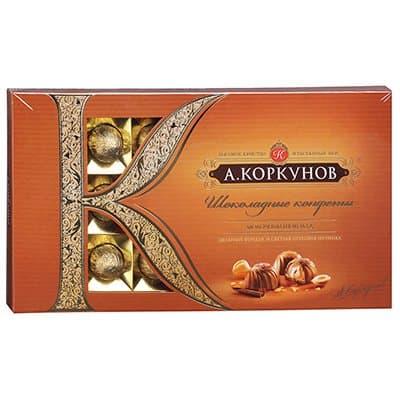 Конфеты Коркунов молочный шоколад с лесным орехом 190гр