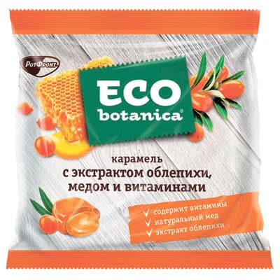 Карамель Eco Botanica с экстрактом облепихи и медом 150 гр фото