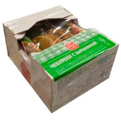 Чебуреки Fine Life с бараниной в упаковке, 6х125 гр фото
