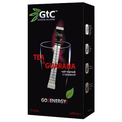 Чай в стиках GTC черный индийский с гуараной 2гр (15стик)