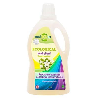 Гель для стирки цветного белья Molecola универсальный цветы мандарина экологичный 1,5 л фото