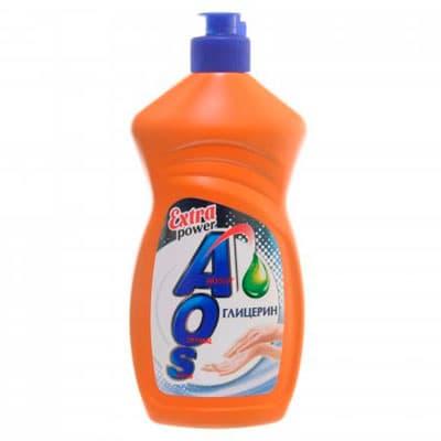 Средство для мытья посуды AOS Extra power Глицерин 450 гр фото
