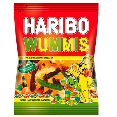 Мармелад жевательный Haribo Wummis Червячки Вуммис 70гр