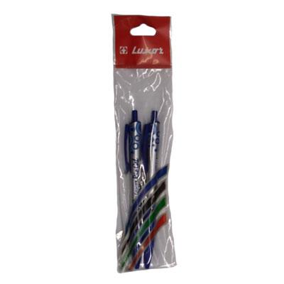Ручка гелевая Gel Pen LUXOR цвет синий 2 шт фото