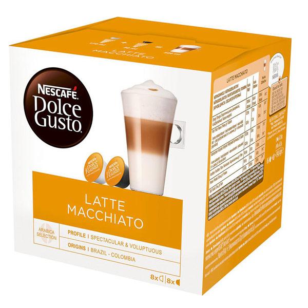 Кофе в капсулах Nescafe Dolce Gusto Latte Macchiato 8 шт - 17.4гр + 8 шт 5.5гр