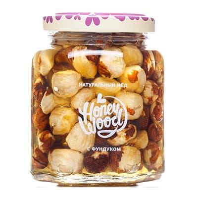 Мед Honey Wood акация с фундуком 230гр. стекло
