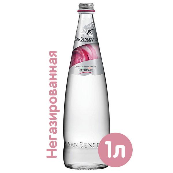 Вода San Benedetto 1 литр, без газа, стекло, 12 шт. в уп. фото