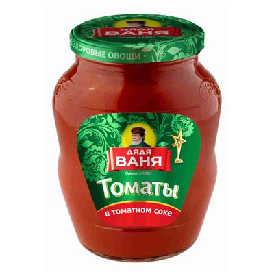 Томаты Дядя Ваня в томатном соке 680 гр фото