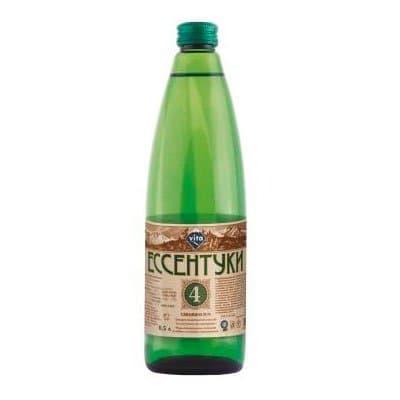Вода Ессентуки Vita №4 0.5 литра, газ, стекло, 20шт. в уп.