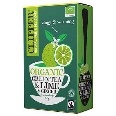 Чай Clipper зеленый с лаймом и имбирем Органик 20 пак