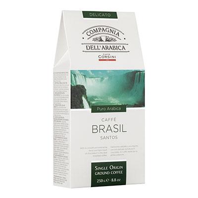 Купить со скидкой Кофе Dell Arabica Brasil Santos молотый в/у 250 гр
