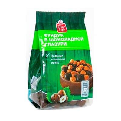 Фундук Fine Life в шоколаде 250 гр (1шт)