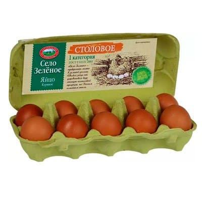 Яйцо куриное Село Зеленое С1 10 шт фото