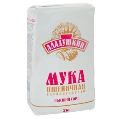 Мука Аладушкин пшеничная высший сорт 2кг (1шт)
