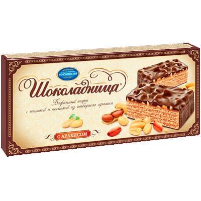 Торт Коломенское Шоколадница с арахисом 270 гр