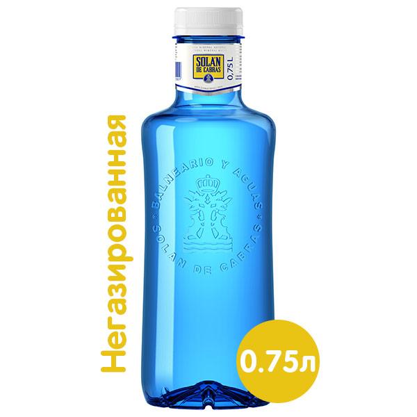 Вода Solan de Cabras 0,75 литра, без газа, пэт, 12 шт. в уп. фото