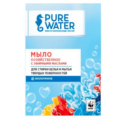 Мыло хозяйственное Pure Water с эфирными маслами 175 гр.
